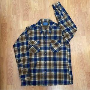 Vtg Pendleton Men's Flannel Button Up Medium